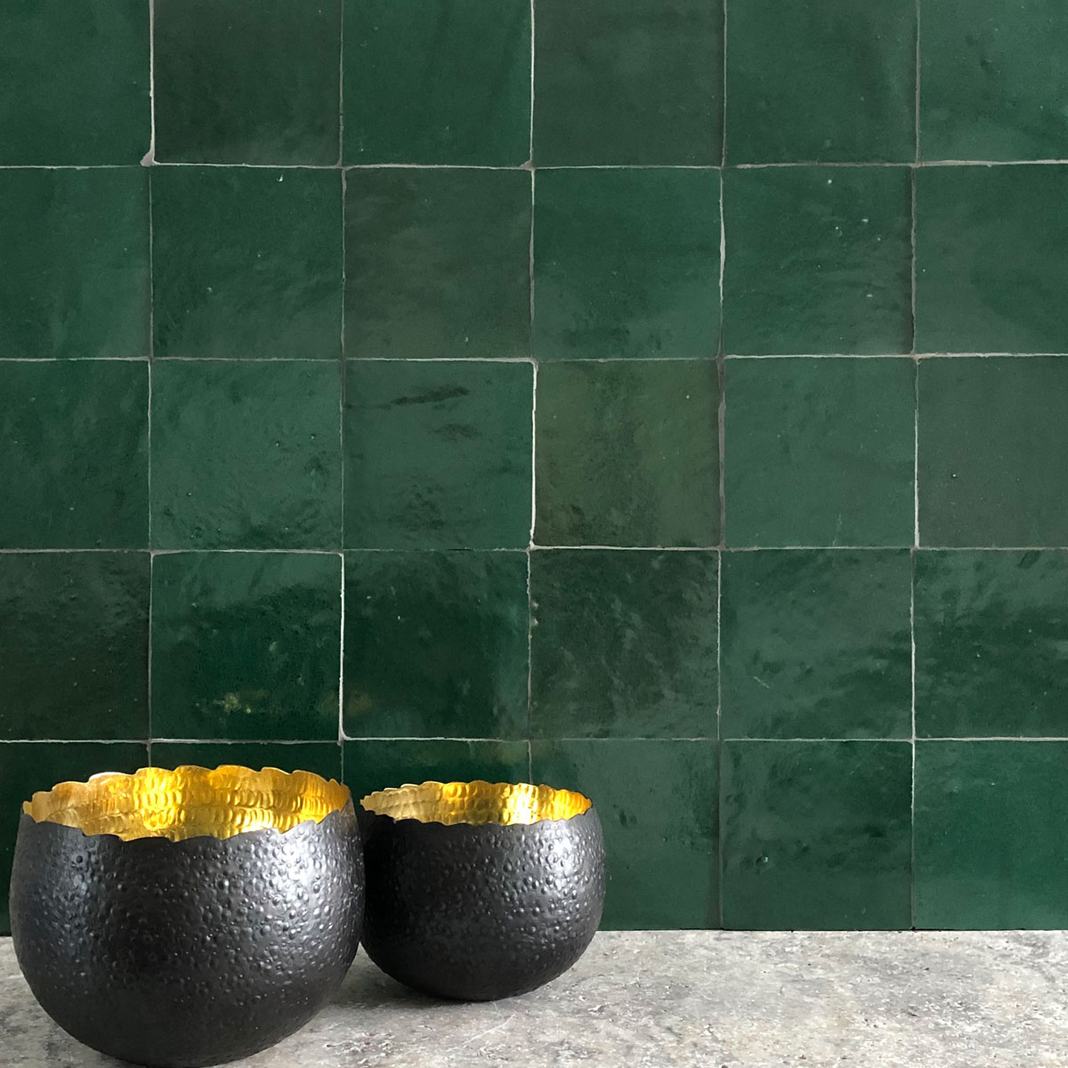 Clay Zellige - Emerald - Moroccan feature tiles - Stone3 Brisbane