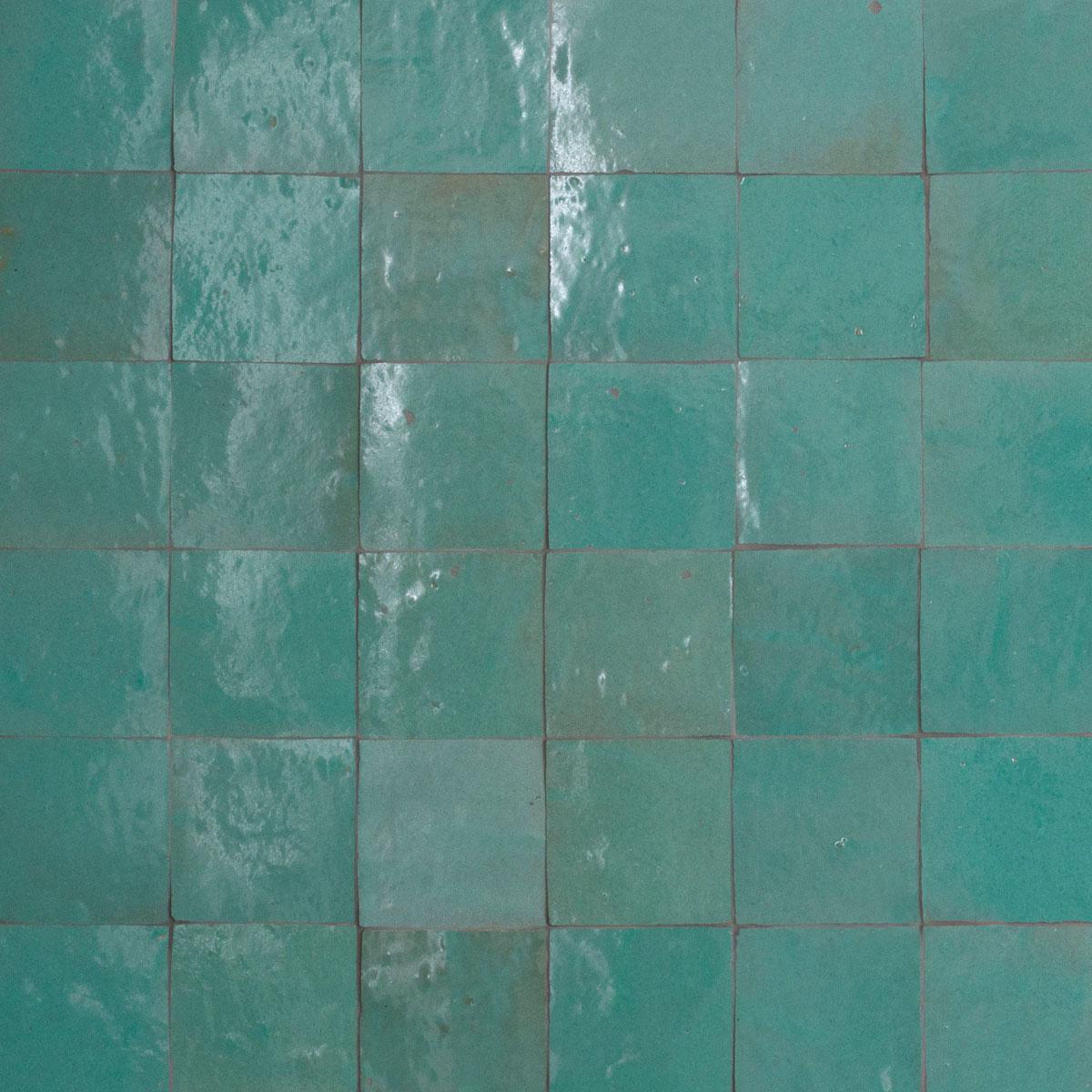 Clay Zellige - Jade - Moroccan feature tiles - Stone3 Brisbane