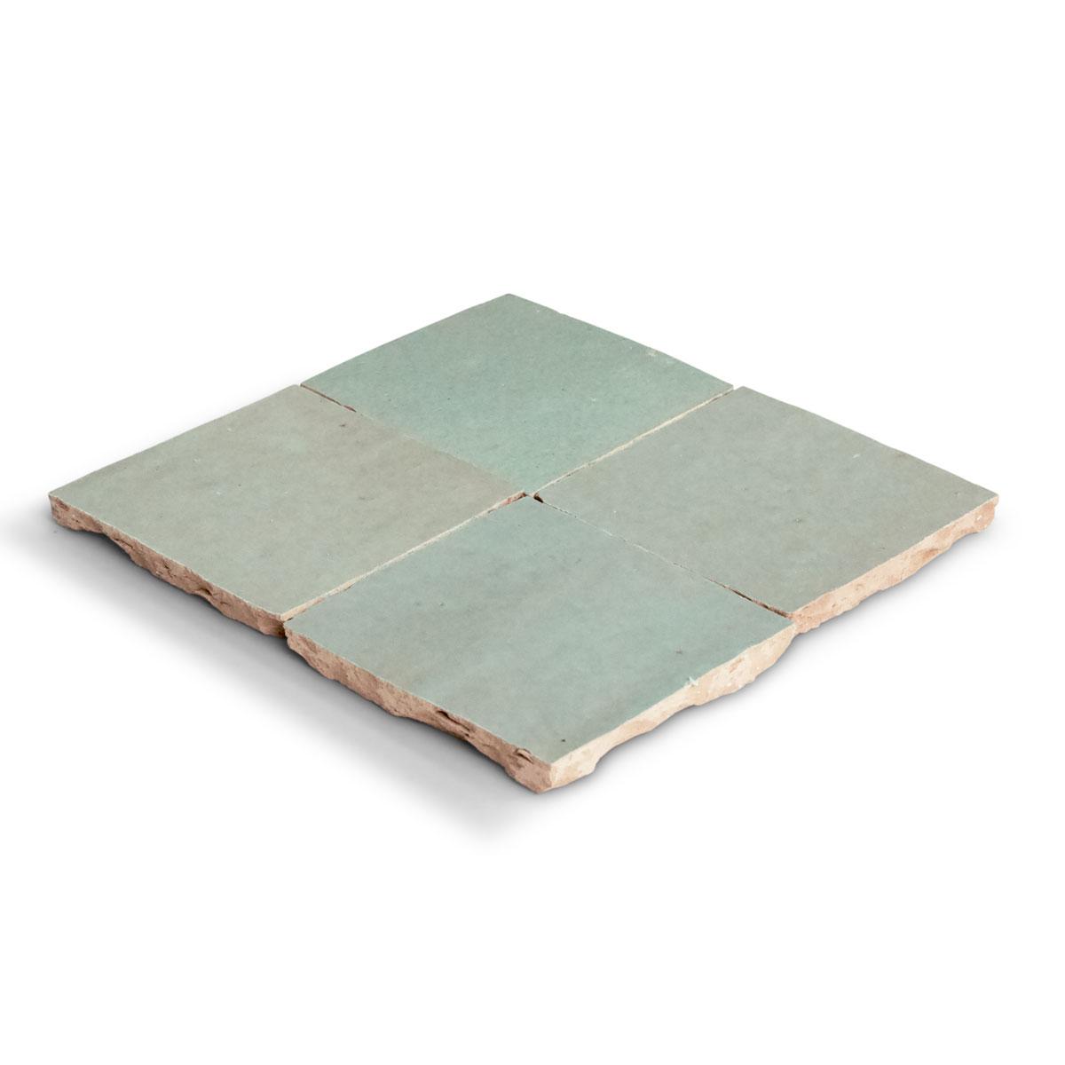 Clay Zellige - Sage - Moroccan feature tiles - Stone3 Brisbane
