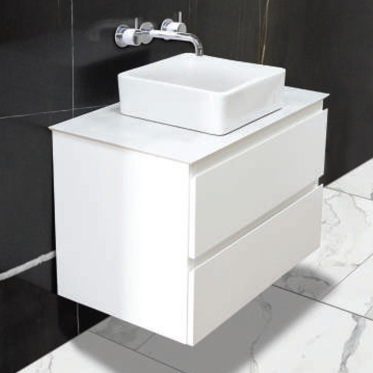 Australian Made Vanities - White Gloss - Stone3 Brisbane